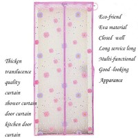 Patent product bath curtain eva plastic door curtains magnetic mosquito fly soft door curtain