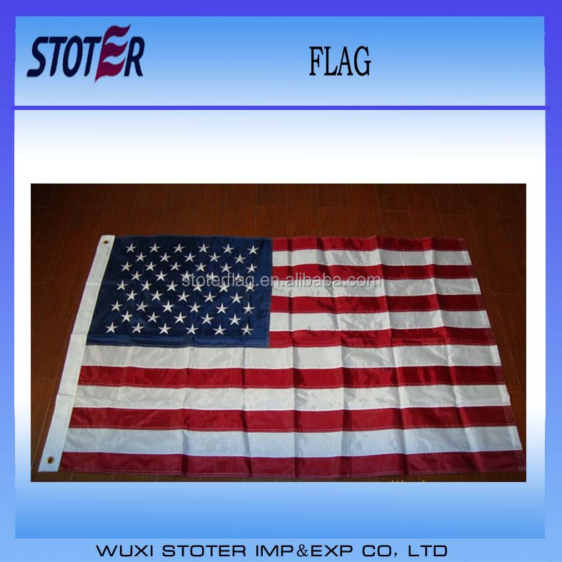 210D nylon embroidery American flag