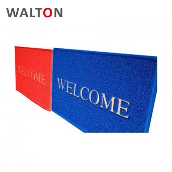 Factory direct supply printed logo pvc best welcome door mats personalized