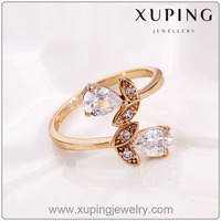12567-New design ladies gold finger ring, Jewelry wholesale china Flower Ring, guangzhou jewelry fashion ring