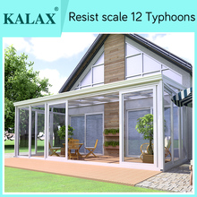 Glass sun room with panel outdoor garden room for sale