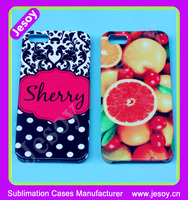 JESOY Plastic Hard Case Cover for iphone, Sublimation Print Your Logo For iphone 6 Case