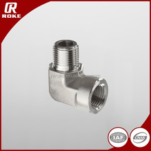 90 degree elbow male to female threaded stainless steel adapter