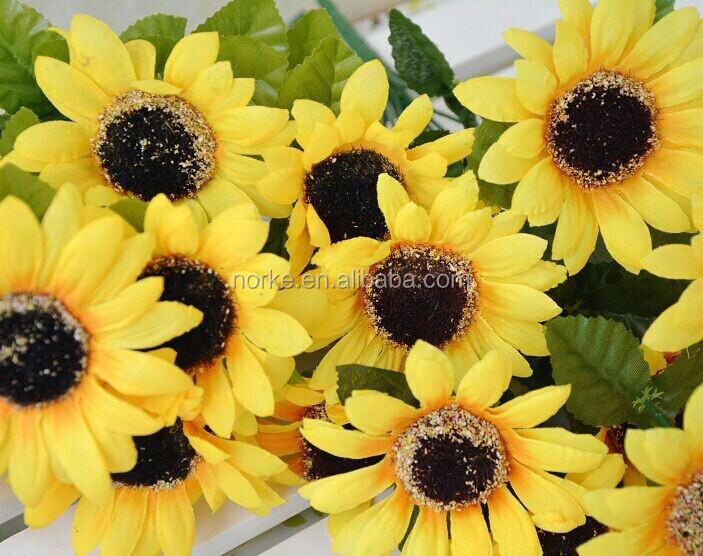New high quality bouquet decorative artificial sunflower