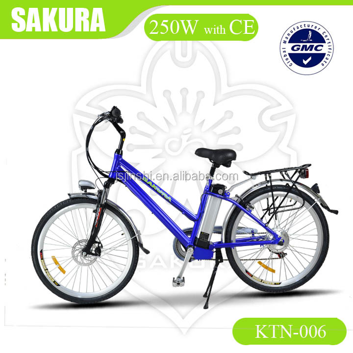 latest lithium battery 36v 250w electric city bike