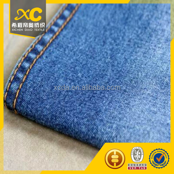 2/1 twill 100% cotton 4.2oz indigo denim jeans fabric