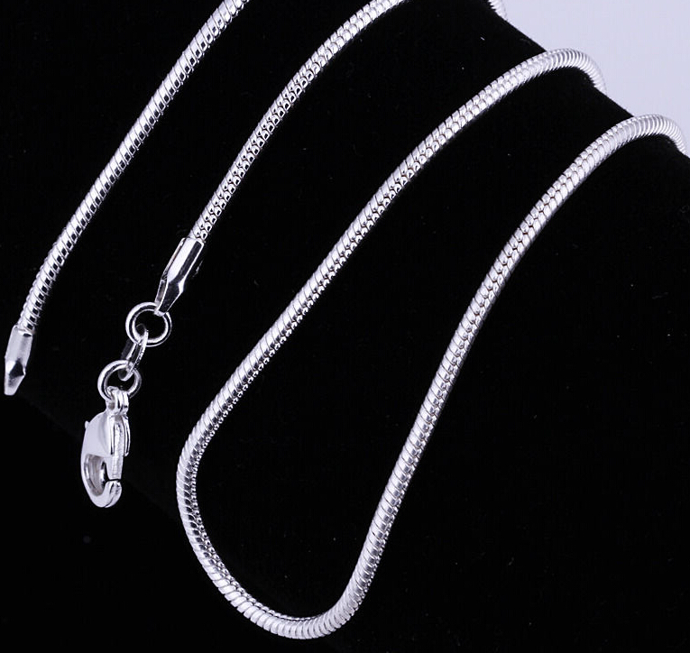 2016 New Popular Product 925 Sterling Silver Snake Chain Necklace