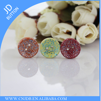 New clothing wooden colored candy buttons Star pattern shirts buttons