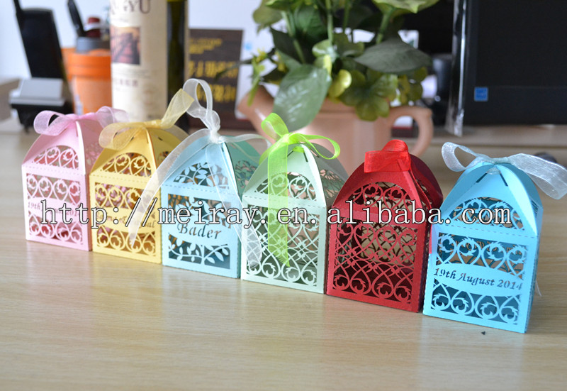 Used wedding decorations for sale party laser cut small chocolate used wedding decorations for sale party laser cut small chocolate wedding decoration pink boxes made junglespirit Choice Image