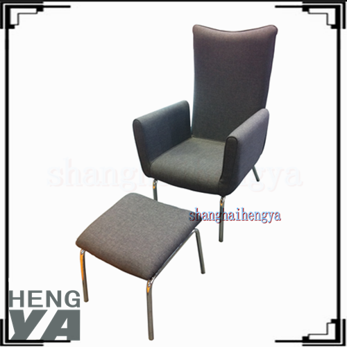 2016 simple modern high back leisure lounge chair in living room with foot rest