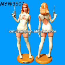 Really hot holding gun Charming 3d Japan Sexy Girl Figurine