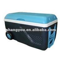 65L plastic insulated type beach ice cooler box with wheels