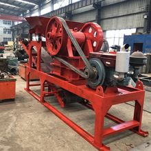 Safe work environment small jaw crusher with conveyor, small crusher plant,crusher line