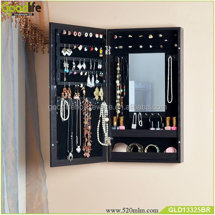 GLD13325mirror jewelry cabinet-5