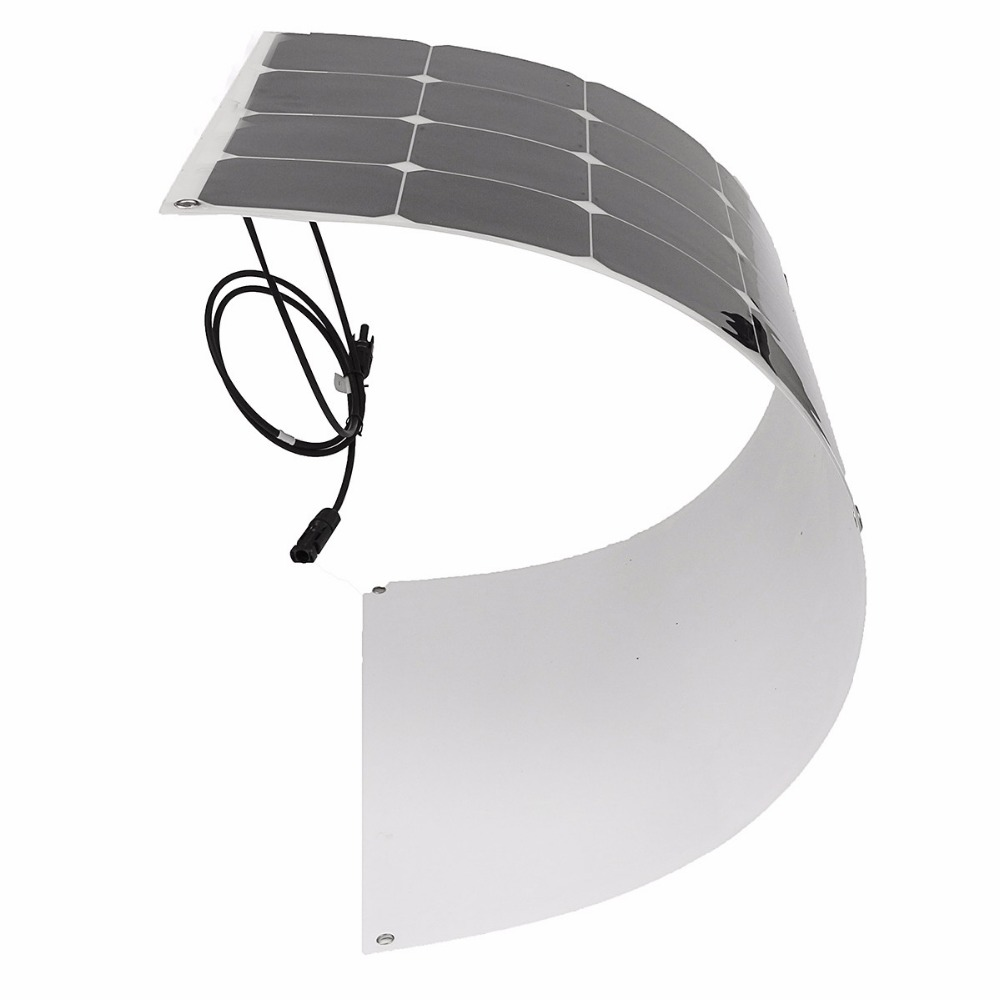 semi flexible sunpower mono cells solar PV module solar panel with outlet