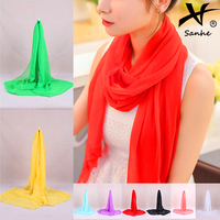 Shop Treasure!! Wholesale Classic Plain Chiffon Silk Scarf
