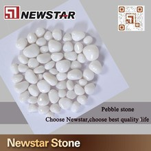 Polished natural white marble pebbles