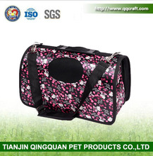 BSCI QingQ Factory bicycle pet carrier dog new designer canvas denim carrier pet bag