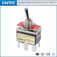 CNTD Bulk Items Spring Loaded 6-Way On Off On Momentary Waterproof Toggle Switch for Lamp