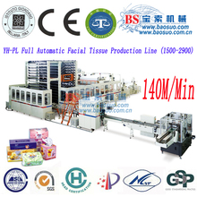 automatic facial tissue production line