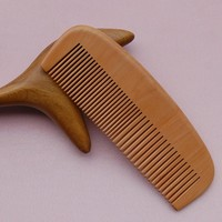 Health Care Natural Hair and Beard Combs Peach Wood Comb