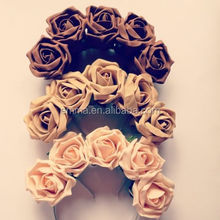 BEAUTIFULL FLORAL HEADBAND ROSE CROWN FLOWER GARLAND FESTIVAL WEDDING 10 COLORS H146