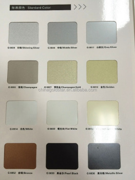 Goldstar acp acm composite aluminum panels factory color card