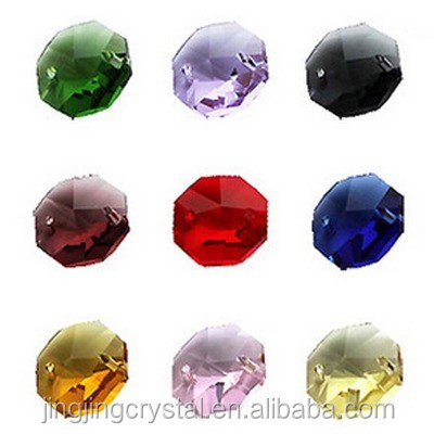 Popular 2016 newest clear cheap Crystal glass octagon beads