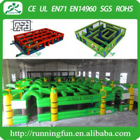 Outdoor inflatable maze for kids, inflatable maze