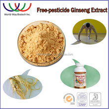 2016 NEW panax ginseng extract FDA KOSHER HACCP China free pesticides herbal medecine plant tonic gingseng extract