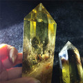 Good color natural smokey  yellow  quartz crystal wand , citrine quartz  crystal points wand