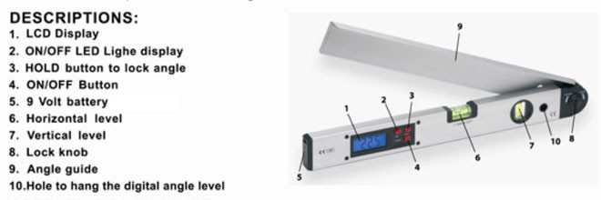 SE-ST99G 400mm digital 16 inch angle Aluminum Spirit Level meter