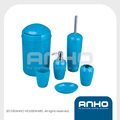 Oval plastic bathroom set in competitive price
