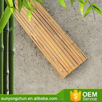 Cheap natural China original color split decorating bamboo fence panel roll for farm yard garden