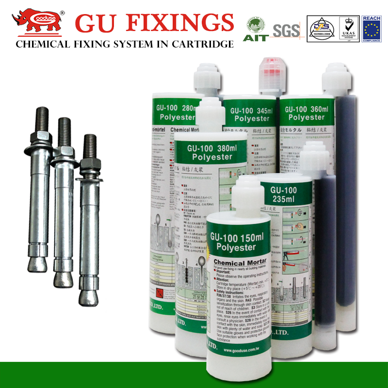 Decorative contact types of glue high strength bolts chemical anchor bolt dimensions