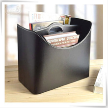 durable pu leather grey rattan storage basket boxes