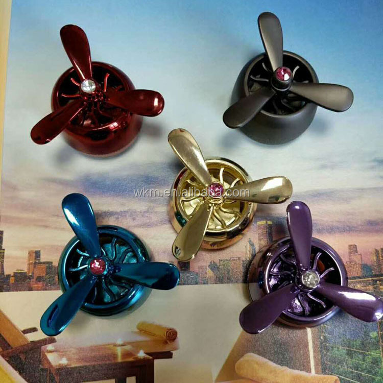 Custom Diffusers car vent clips perfume Propeller Shape car air freshener hanging