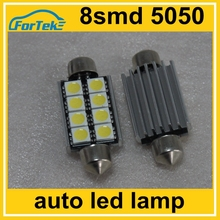 12 volt car festoon led interior dome reading light bulbs 8SMD 5050 42mm