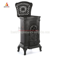 indoor fireplace /cast iron wood burning stove