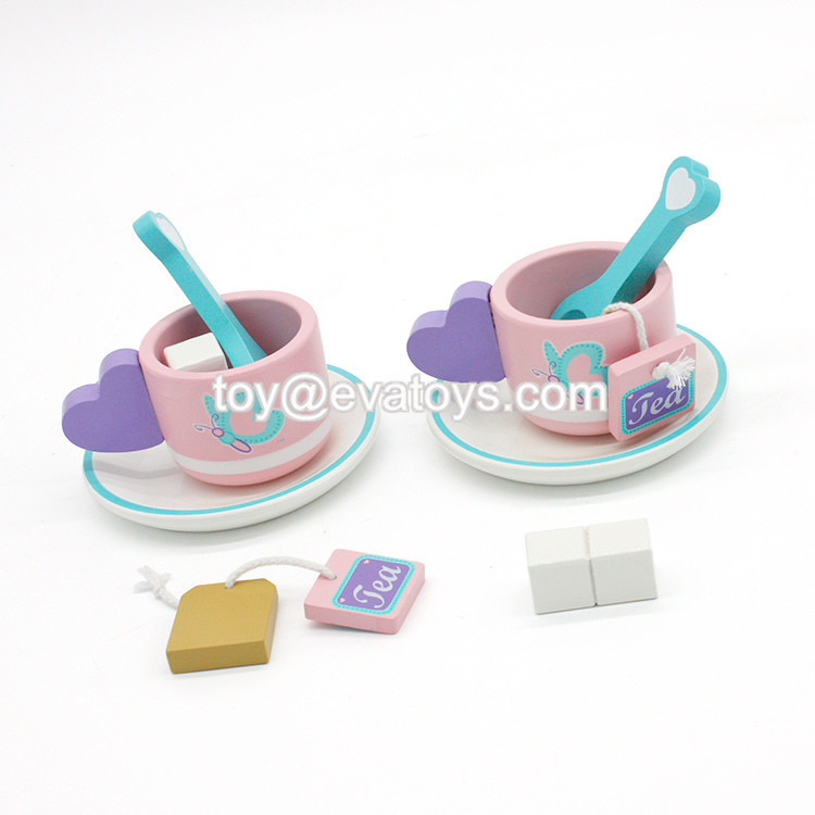 New hottest girls pretend play toy party set wooden toddler tea set W10B197