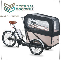 tricycle for elderly inter 7speeds bikes 36V 9A Li-ion electric cargobike/bakfiets/cargo bicycles UB9036E