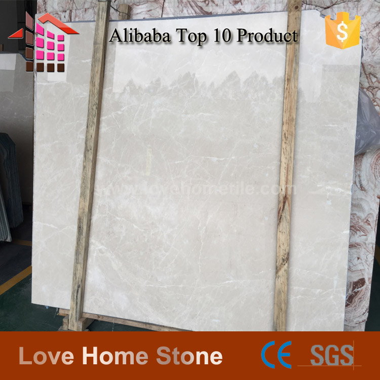 China Factory Direct Sales Cheap Polished cream color Marble Floor