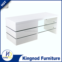 Modern White Gloss Living Room Furniture Glass TV Stand/ MDF Wood Corner TV Cabinet, wood wall units