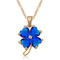 Free Shipping AAA Zircon Clover Pendant Rose Cut Diamond Jewelry