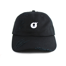 Wholesale 6 Panel Cotton Twill Embroidery Plain Distressed Baseball Cap/ Unstructured Dad Hats