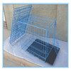Cheap foldable dog cage with double doors(china supplier)