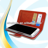 Luxury wallet stand cell phone leather bamboo cases for iphone4s