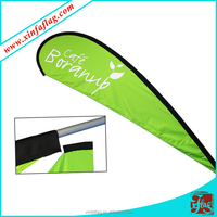 Outdoor advertising fiberglass pole polyester flag teardrop banner, outdoor teardrop flag beach flag
