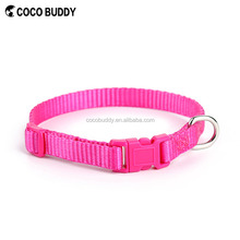Hot Pink Pet Accessory/ Dog Colorful Collar With Bell /Nylon Small Pet Dog Cat Collar Pet Products