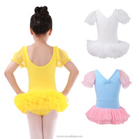 Girls Puff Sleeve Fluffy Princess Kids Tutu Dress